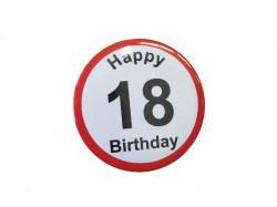 """Przypinka na 18 urodziny """"Happy 18 Birthday"""""""