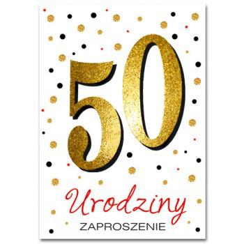 Zaproszenia na 50 urodziny / ZZ6820