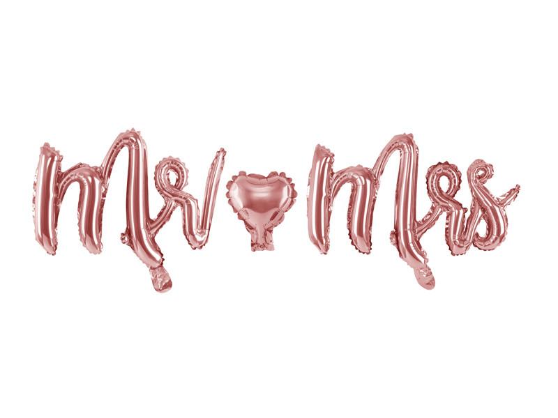 "Balon foliowy napis ""Mr&Mrs"""