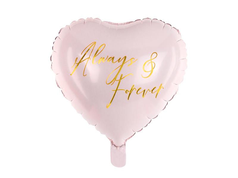 """Balon foliowy Serce """"Always & Forever"""" / 45 cm"""