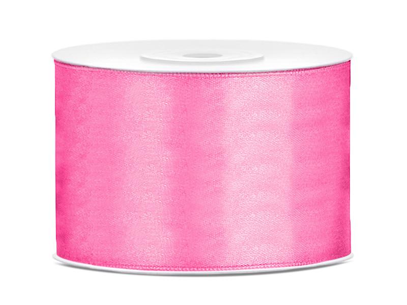 Wstążka satynowa, różowa / 50 mm