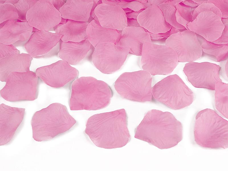 Wystrzałowa tuba konfetti - różowe płatki róż / 60 cm