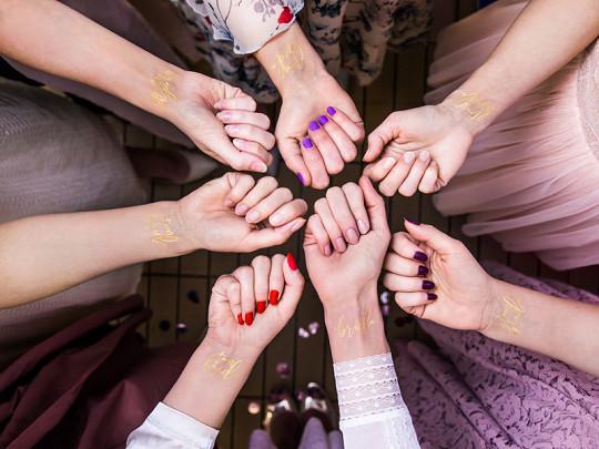 "Tatuaże zmywalne ""Team Bride"" na Wieczór Panieński"