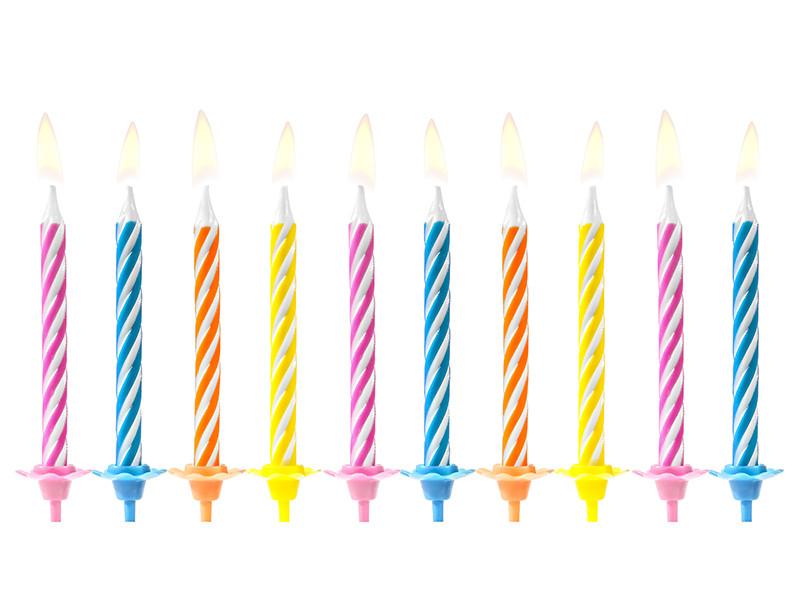 Świeczki urodzinowe, mix