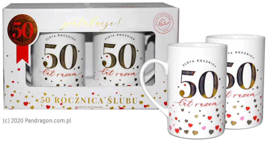 Zestaw kubków na 50 Rocznicę Ślubu / Set Gold