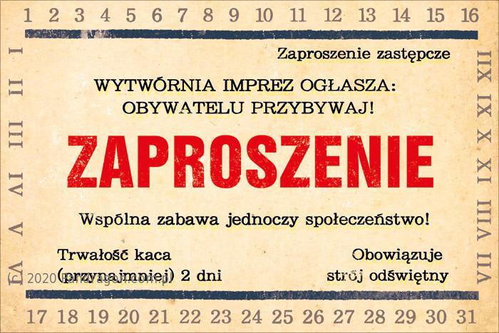 Zaproszenia uniwersalne / Z. C6-397