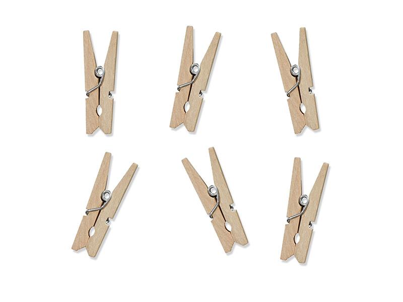 Klamerki drewniane, naturalne drewno / 3 cm
