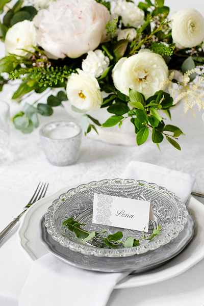 "Winietki na stół ""Ornament"" / WS44"