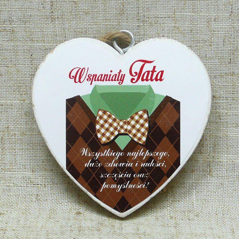 """Serduszko drewniane """"Wspaniały Tata"""" / DIL-P-TAB-818-MT-7"""