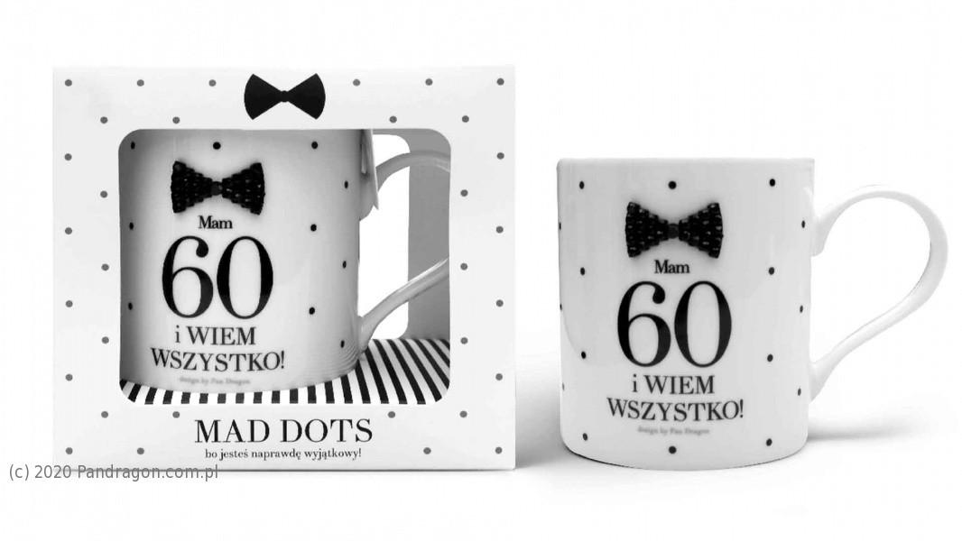 Kubek na 60 urodziny / Mad Dots