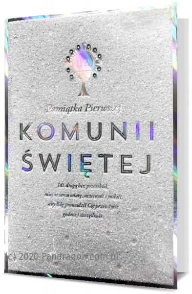 Kartka na komunię pamiątka komunijna z okazji I Komunii Świętej / HM200-1783
