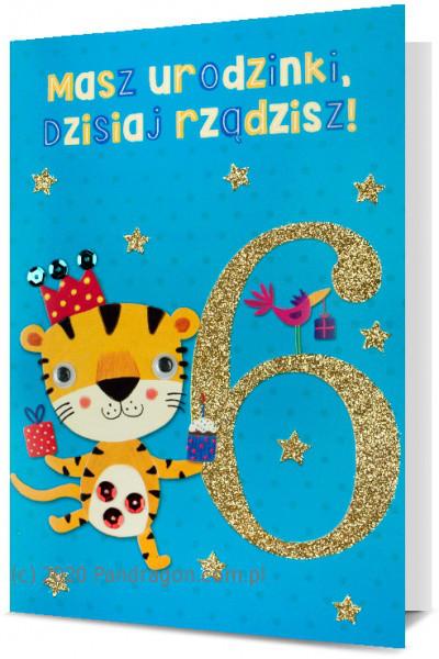 """Karnet """"6 urodziny"""" / HM200-1703"""