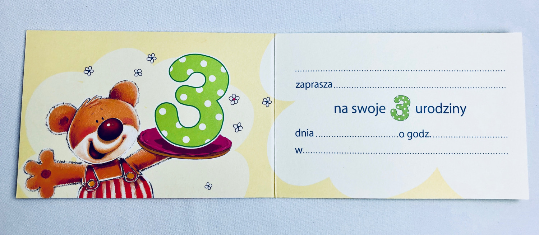 Zaproszenia na 3 urodziny / Z.C6-522