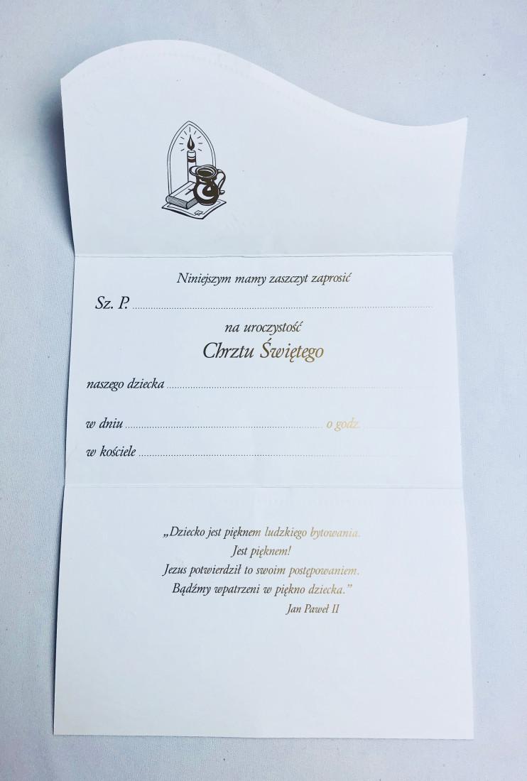 Zaproszenia na Chrzest Święty / ZS_CHR 20961