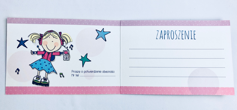 Zaproszenia na urodziny dziecka dla dziewczynki / Z.C6-568