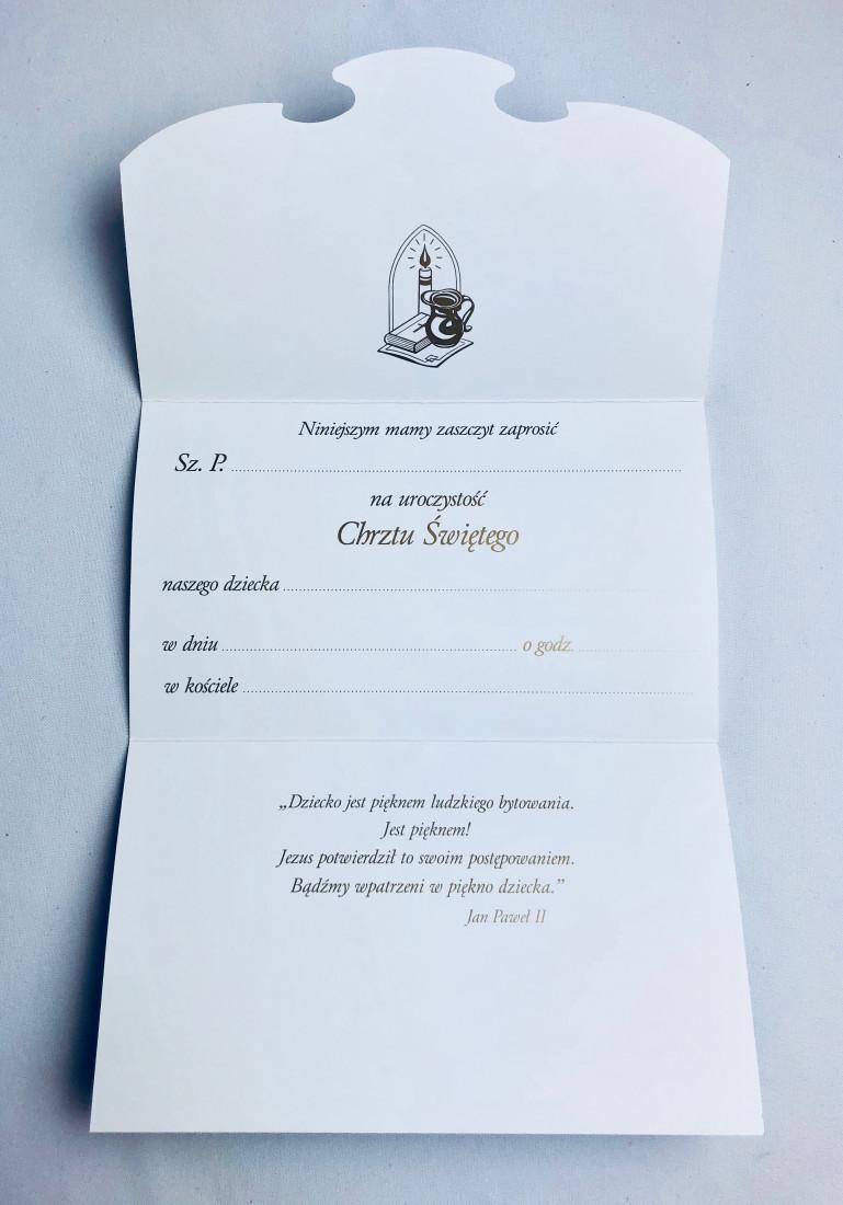 Zaproszenia na Chrzest Święty / ZS_CHR_36408