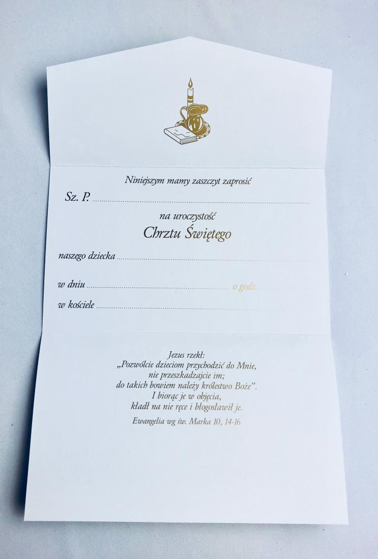 Zaproszenia na Chrzest Święty / ZS_CHR 20963