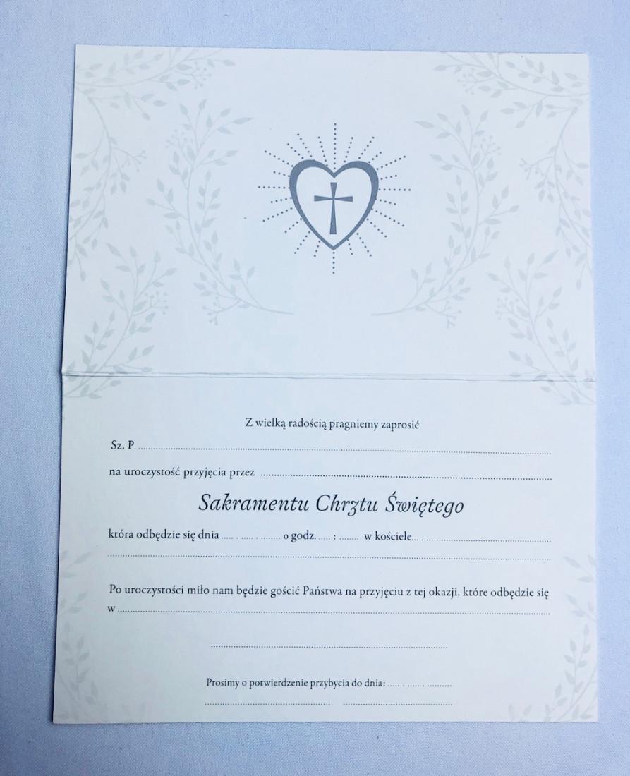 Zaproszenia na Chrzest Święty / Z.STAR-44