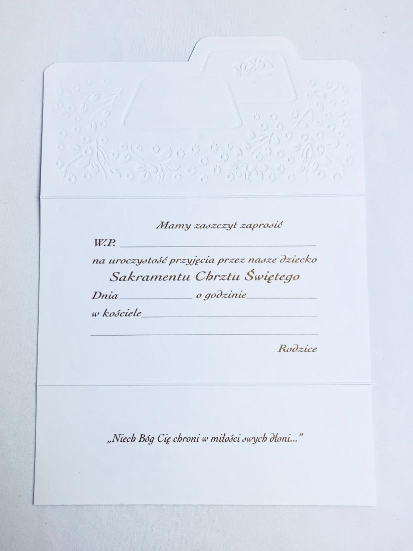 Zaproszenia na uroczystość Chrztu Świętego / 1506_A