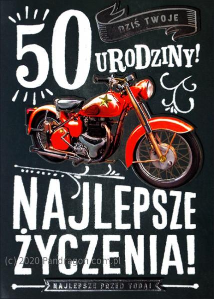 """Kartka """"50 urodziny"""" / HM-200-1217"""