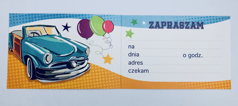 Zaproszenia na urodziny / Z.C6-457