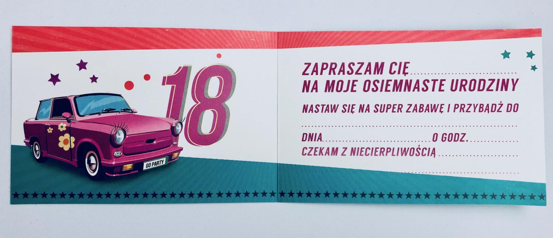 Zaproszenia na 18 urodziny / Z.C6-535