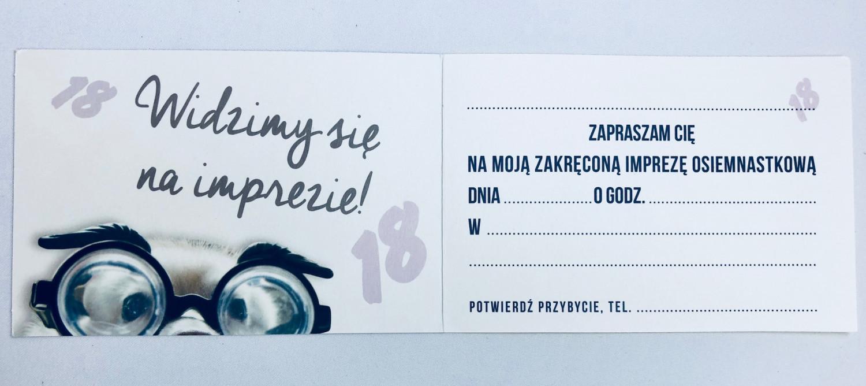 Zaproszenia na 18 urodziny / Z.C6-527