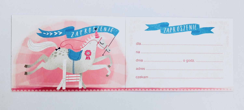 Zaproszenia na urodziny dziecka dla dziewczynki / Z.C6-608