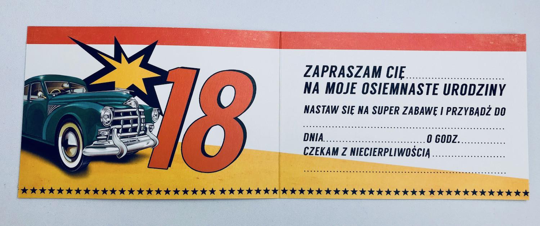 Zaproszenia na 18 urodziny / Z.C6-533