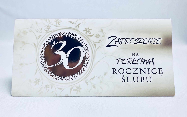 Zaproszenia na 30 Rocznicę Ślubu / ZRS 0230
