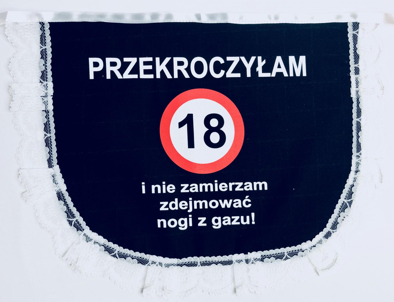 """Fartuszek na """"18 urodziny"""""""