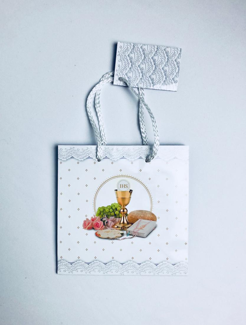 Torebka prezentowa na I Komunię Świętą, mała