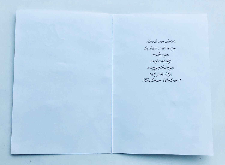 """Kartka """"W dniu Babci"""" / HM-200-653"""