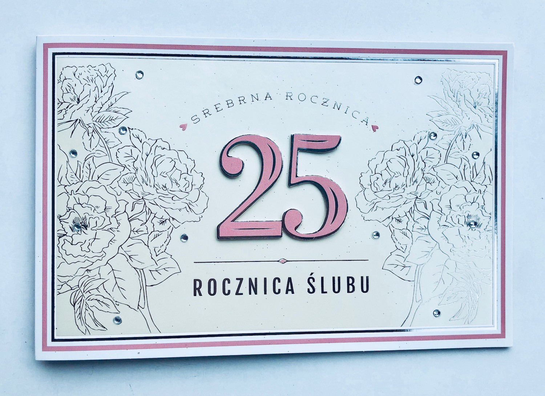 """Kartka na rocznicę ślubu """"25 Rocznica Ślubu"""" / HM-100-661"""