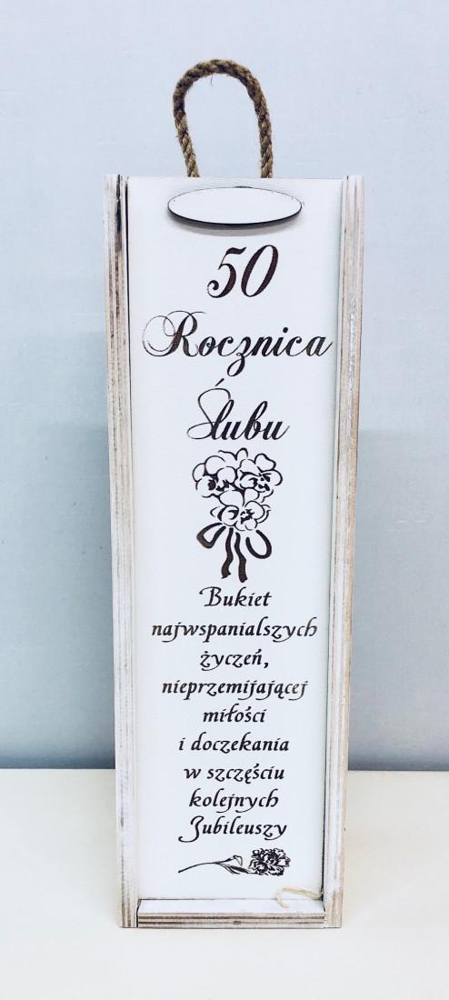 """Skrzynka zdobiona """"50 Rocznica Ślubu"""""""