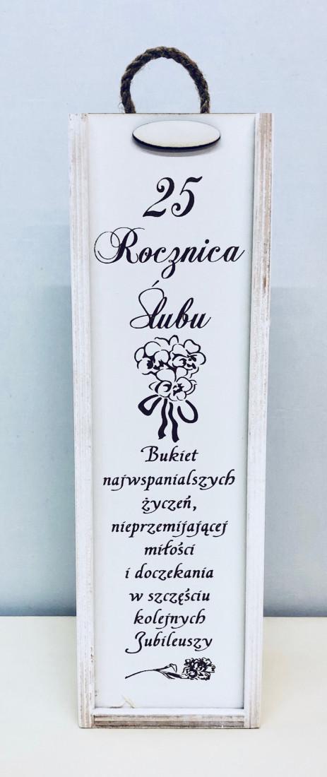 """Skrzynka zdobiona """"25 Rocznica Ślubu"""""""
