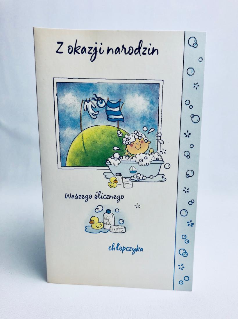 """Kartka na Narodziny dziecka """"Z okazji Narodzin Synka"""""""