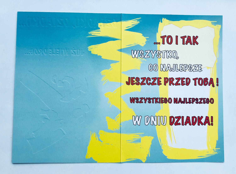 Karnet dla Dziadka / KF30