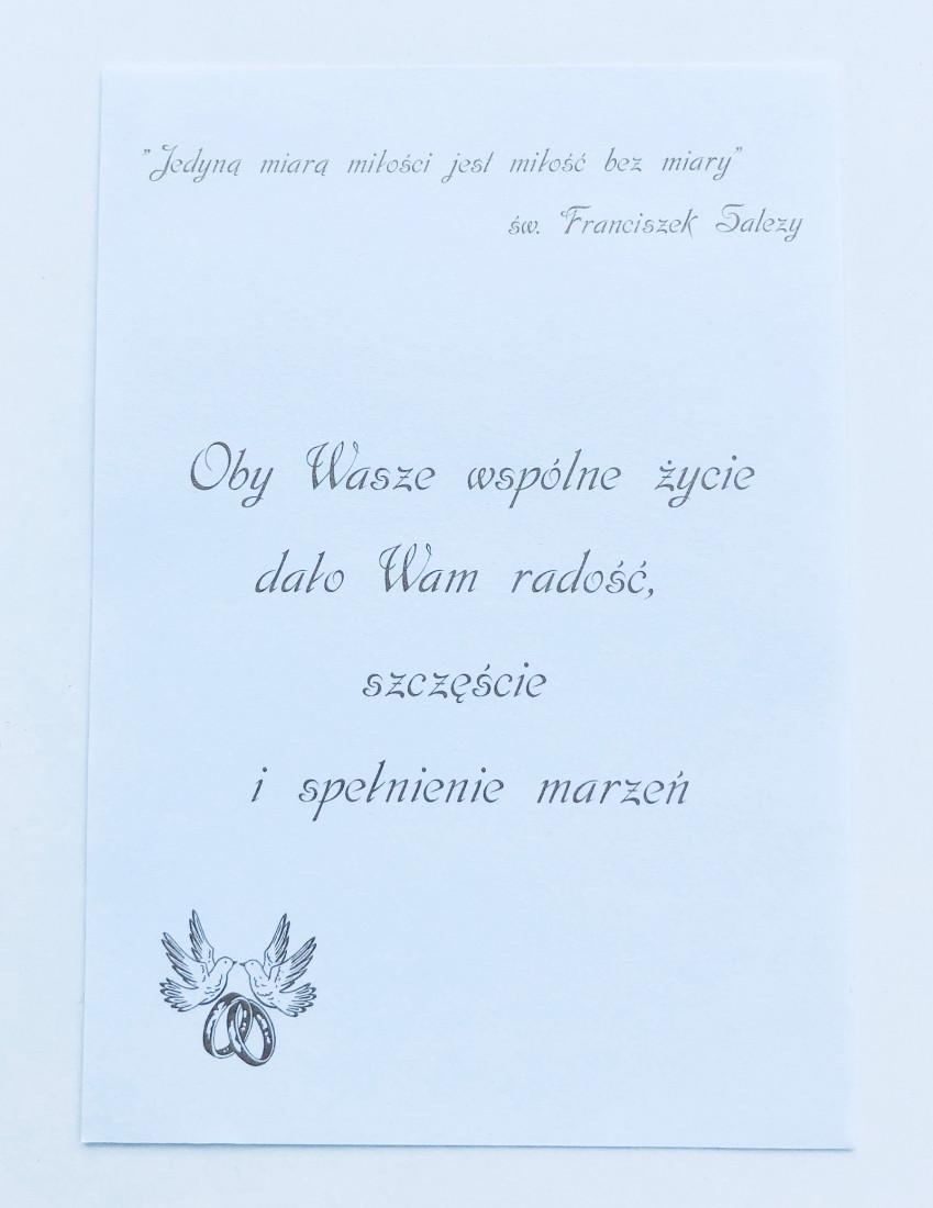 """Karnet rękodzieło """"1 Rocznica Ślubu"""" / DLB1"""