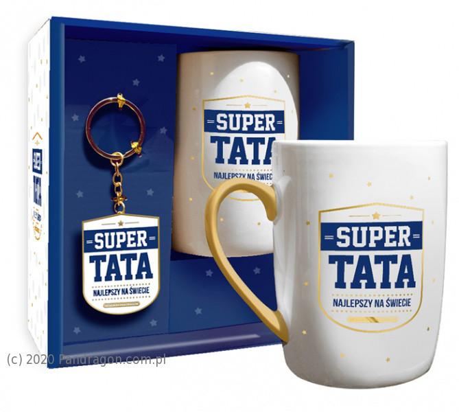 "Zestaw kubek z brelokiem ""Super Tata"""