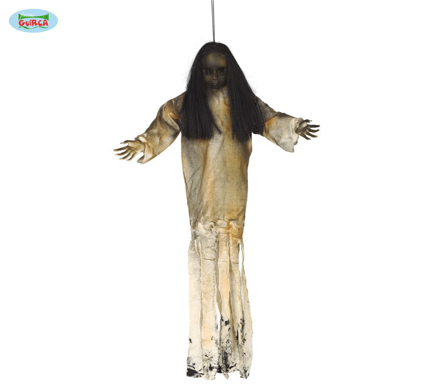 "Ozdoba na Halloween ""Upiorna Lalka"" podświetlana / 90 cm"