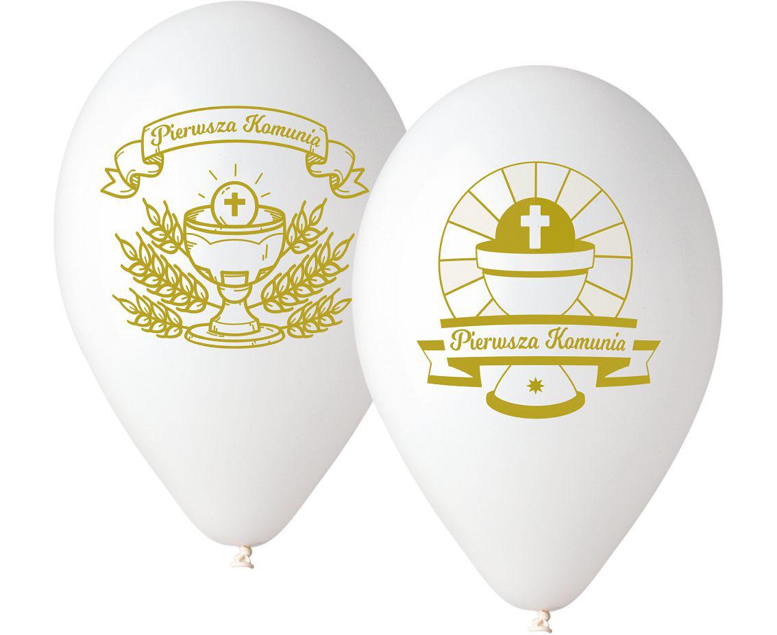 """Balony Komunijne lateksowe Premium """"Pierwsza Komunia"""""""