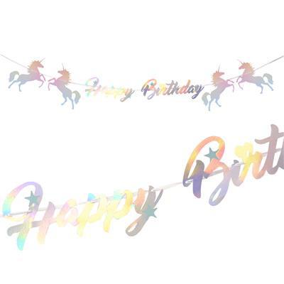 "Girlanda ""Happy Birthday"" Jednorożec"