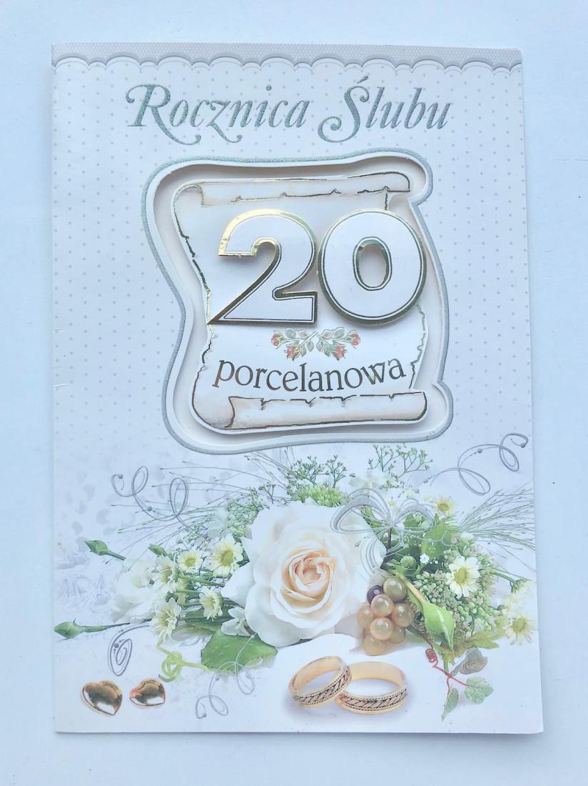 """Karnet """"Porcelanowa Rocznica Ślubu"""" / LDG/6"""