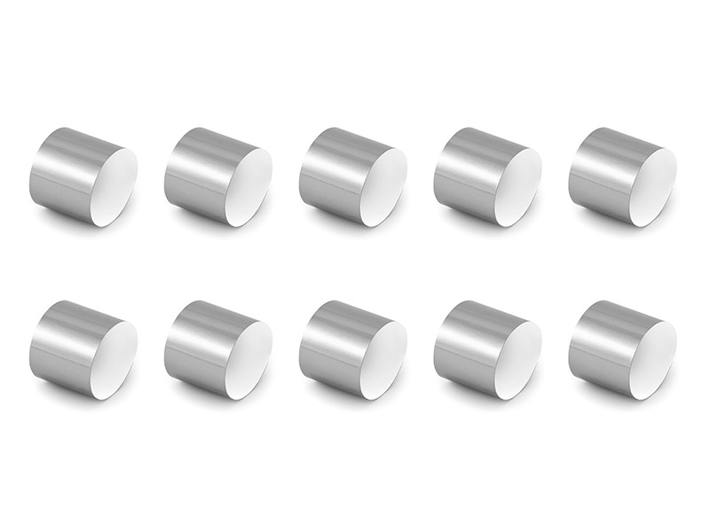 Obrączki papierowe na serwetki, srebrny