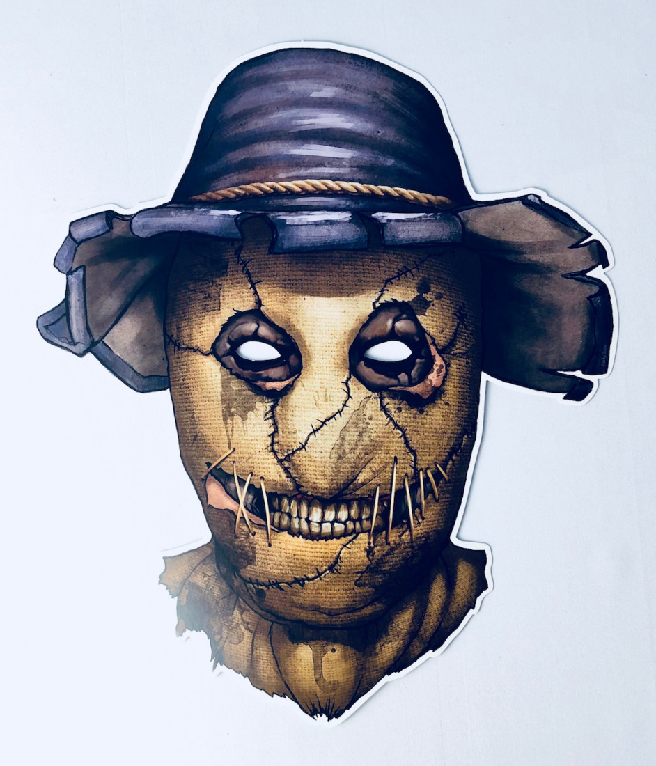 """Maska papierowa """"Strach na wróble"""" / 32x37 cm"""