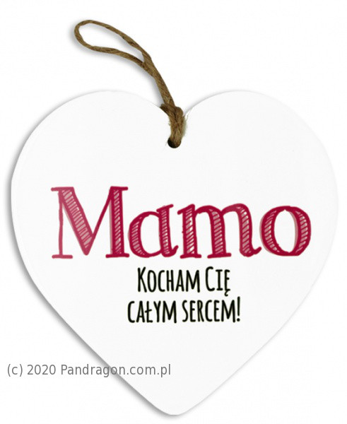 """Serce ceramiczne """"Mama"""""""