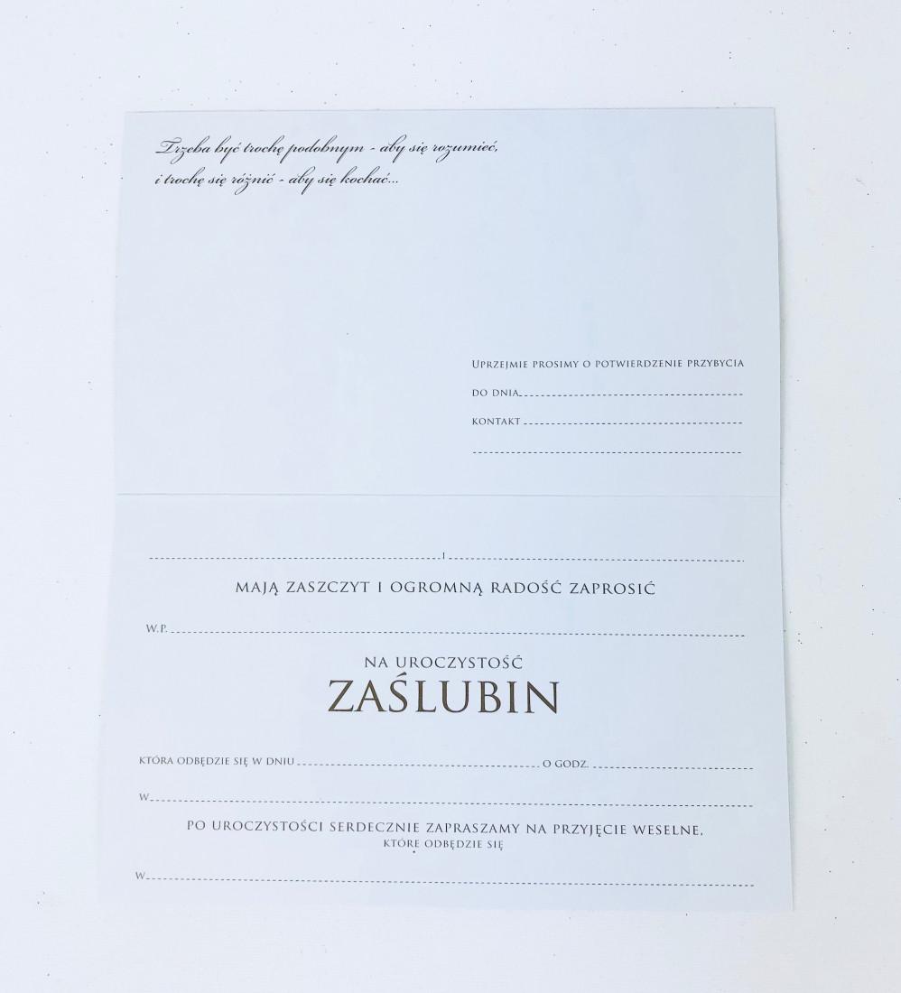 Zaproszenia ślubne / PMZ-024