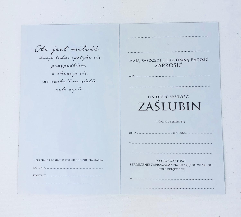 Zaproszenia ślubne / PMZ-021