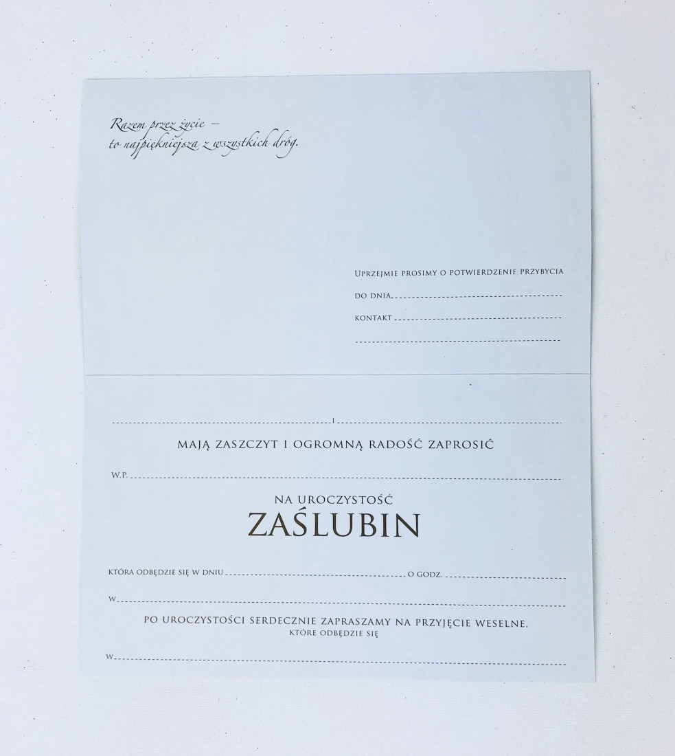 Zaproszenia ślubne / PMZ-022